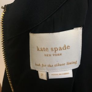 kate spade Dresses - Kate Spade Black Dress with Bow Accent - Size 2